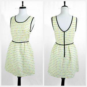 SUGAR LIPS • Neon Stripe Jacquard Knit Dress